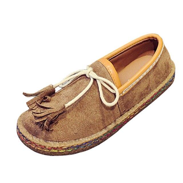 Autumn Women Tassel Platform Shoes Fashion Light Color Women Loafers Pu Leather Comfort Slip-on Flat Shoes Woman XWD4551