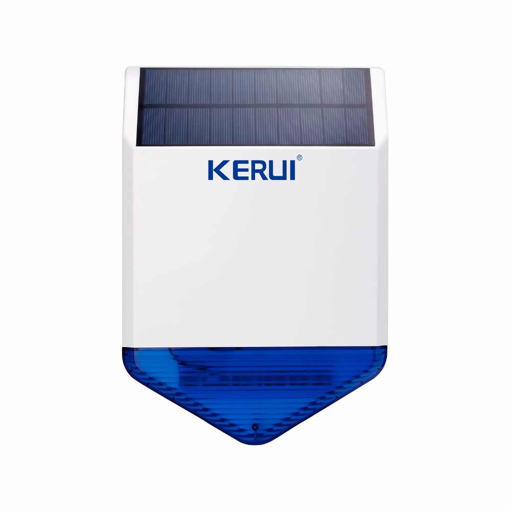 New Wireless Flash Strobe Outdoor Solar Waterproof Siren Alarma for KERUI Wireless GSM Home Security Alarm System Energy charge anju beaute шампунь для щенков и котят пассифлора и ваниль douceur extreme shampooing an110 0 2