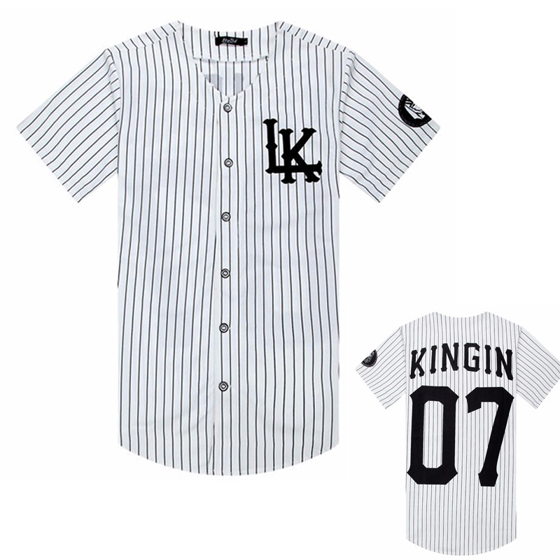 2019 New Sold Men T Shirts Fashion Streetwear Hip Hop Baseball Jersey Striped Shirt, Clothing For Men, Tyga Last Kings Clothing