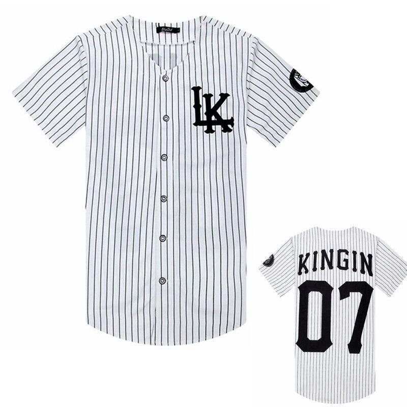 2019 New Sold Men T Shirts Fashion Streetwear Hip Hop Baseball Jersey Striped Shirt, Clothing For Men, Tyga Last Kings Clothing