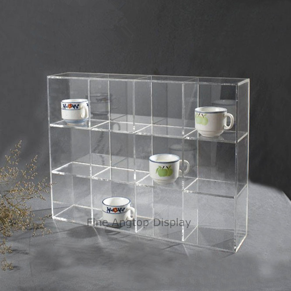 Countertop Clear Acrylic Gift Shop Jewelry Toys Small Cups Display Showcase