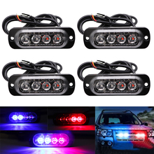LED Strobe Warning Light Grille Flashing Breakdown Emergency Light Ultra-thin Car Truck Beacon Lamp Traffic Signal Light 12V 24V lte 5102 warning led light ac220v flashing lamp led industrial emergency strobe light beacon warning light dc12v 24v ac110v 220v