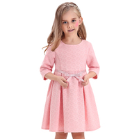 Girls Dresses Jacquard Baby Kids Flower Butterfly Ribbon A line girls dress Autumn baby girl dress