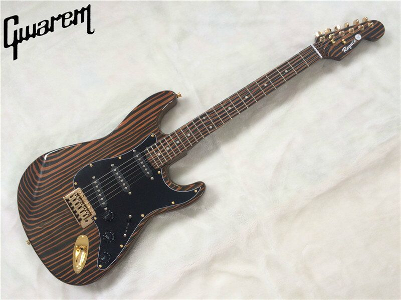 Electric guitar/Gwarem st guitar/zebrawood body and neck/with gold hardwareguitar in china цена 2017