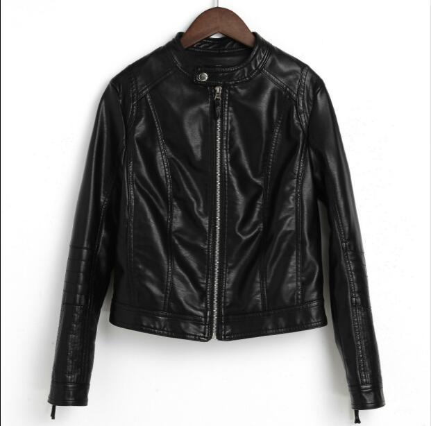Leather Jacket Women 2018 Spring New Womens Outerwear Jacket And Coat Ladies Leather Clothing Female Motorcycle Leather Jacket
