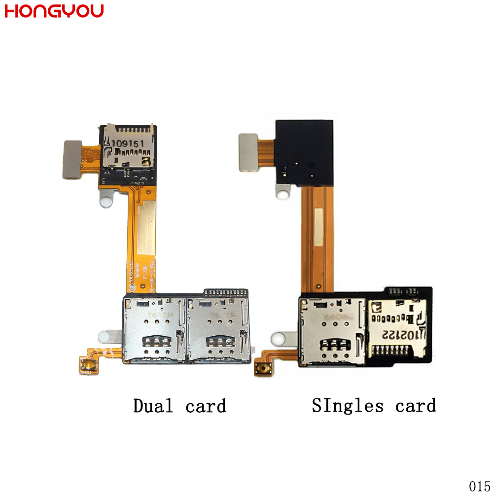 SIM Card Slot Holder + TF Card Slot Flex Cable For Sony Xperia M2 Aqua S50H S50T D2302 D2303 D2305 D2306 Sim Flex Cable