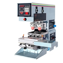 2 colors shuttle  automatic tabletop pad printing machine