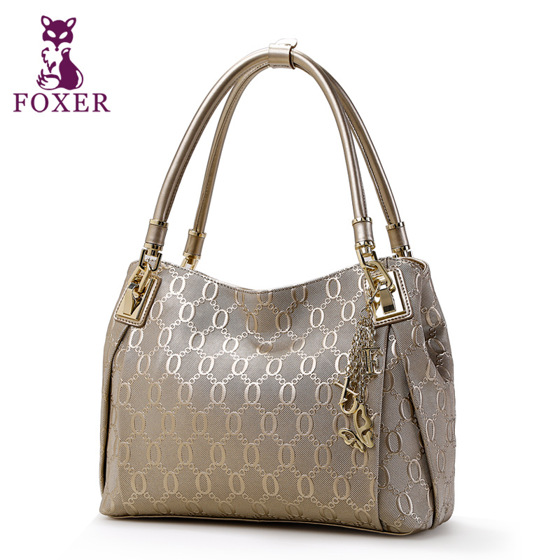 FOXER women handbag Luxury leather bag 2018 shoulder bags fashion ladies evening handbags women designer brands wristlets totes