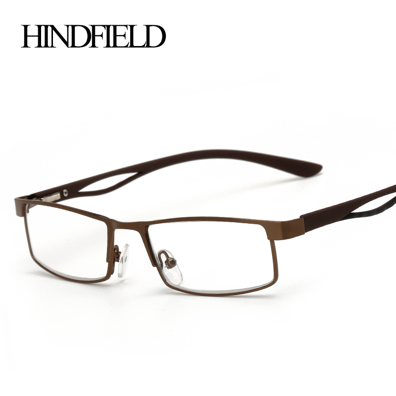 Image 2016 Alloy Square Reading Glasses Women Men Prescription Lenses +100,+200,+300,+400 CJ140
