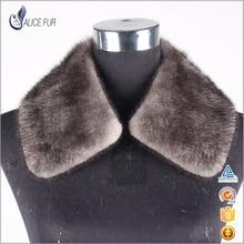 Genuine Mink Fur Neckwear Real Mink Fur Collar For Men Winter Coat