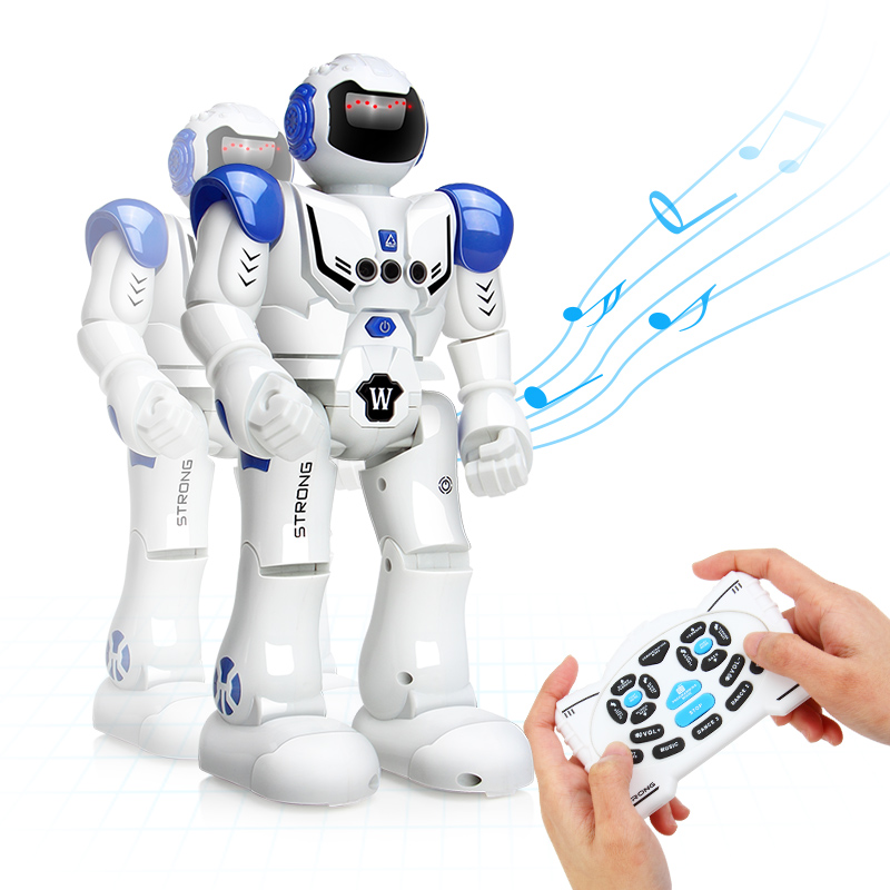 DODOELEPHANT Remote Control Robot Toy Smart Child RC Robot With Sing Dance Action Figure Toys For Boys Children Birthday Gift robot classic toys 360 degree rotation toy detective robot action figure toy deformation robot remote control toy for child gift