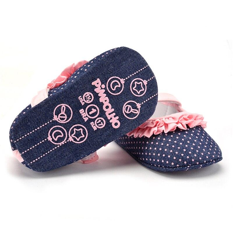 2017 Patch Pink Polka Dots Princess 0-18Months Newborn Baby Girls Toddler Crib Canvas Summer Shoes First Walker все цены