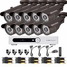 Eyedea 16CH Video DVR Recorder HD 1080P Bullet Black Outdoor CMOS Night Vision Business CCTV Security Camera Surveillance System