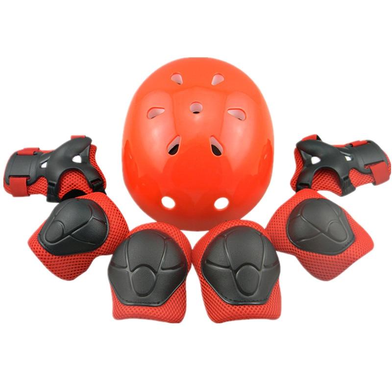 Children Skating Helmet Head Guard Protective Suit Protector Set Of 7 font b Health b font