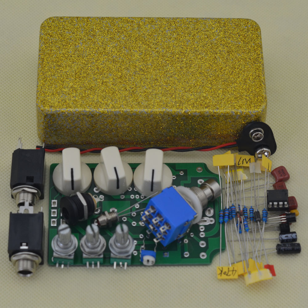 Overdrive Electric Guitar Effect Pedal Ture Bypass Flash gold High Quality Guitar Effect Pedal Guitar Parts & Accessories