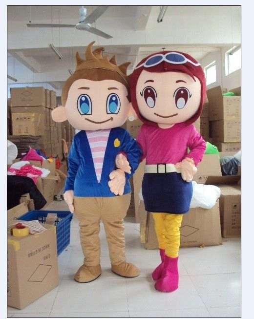 2016 Hot Sale Fashion Lovers Boy And Girl Cartoon Outfit -9550