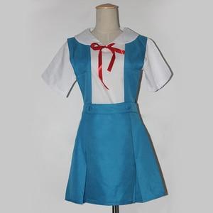 Image 2 - 4 pièces/ensemble dame Halloween Cosplay Asuka Langley Soryu Tokyo Ayanami Rei Halloween Cosplay Costume école uniforme perruque livraison gratuite