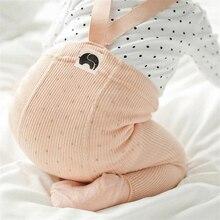 Хлопковые детские колготки, штаны для новорожденных, детские леггинсы с завышенной талией и перекрестным поясом, штаны для маленьких мальчиков и девочек