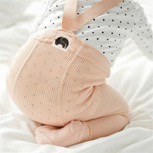 Cotton Baby Pantyhose Newborn Baby Pants High Waist Cross Belt Baby Leggings Baby Boys Girls Pants cheap Full Length Elastic Waist Skinny Cindy YoYo Worsted Fits true to size take your normal size Unisex CYY092 Solid Casual