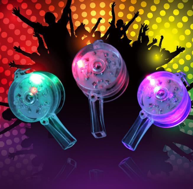 Sammlung Hier Blinkende Led Whistle Blinkt Glühende Leuchtende Pfeifen + Regenbogen Halskette Rock Xmas Party Spielzeug Geschenk Fan Konzert Atmosphäre Requisiten