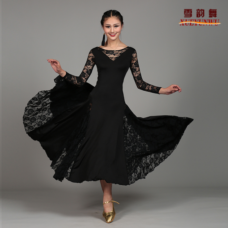 Lady Ballroom Dance Skirt Female Modern Dance Suit Girls Sumba Rumba Dance Dance Costumes Practice Show Large Swing Skirt D-0050 Novelty & Special Use