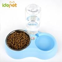 Pet Dog Puppy Food Bowl Puppy Travel Feeding Feeder Water Dish Large Dog Pet Drinking Stainless