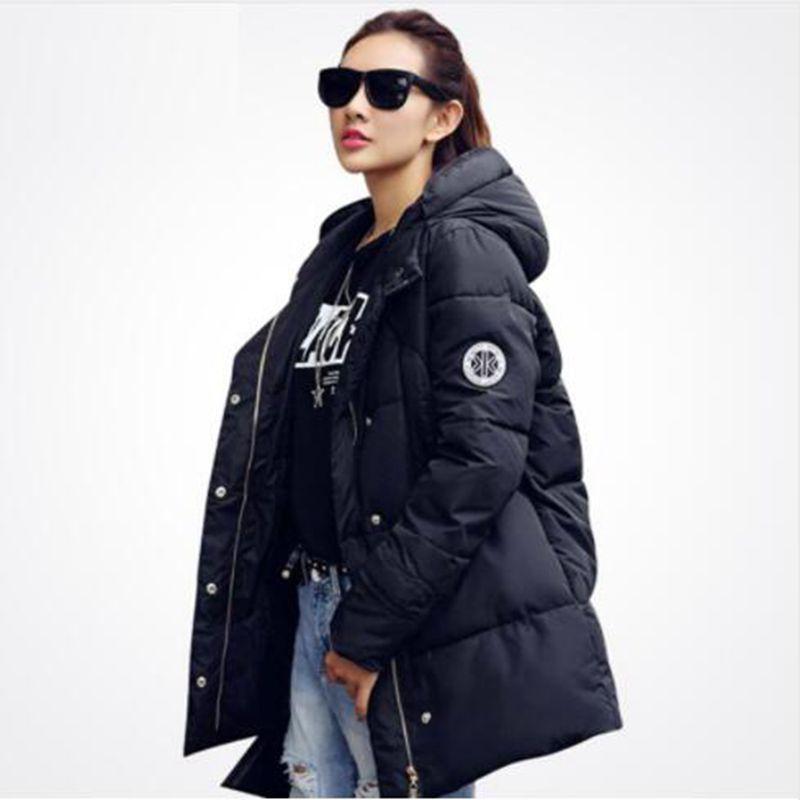 Long   Parkas   For new Women Winter Jacket Coat Thickening Cotton Hooded Warm Winter Jacket women   Parkas   Outwear