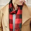 Мода 2016 зима теплый шарф мужчин мульти сетка стиль шарф классический длинные шарфы женщины испания марка Повседневная шаль fulares воротник