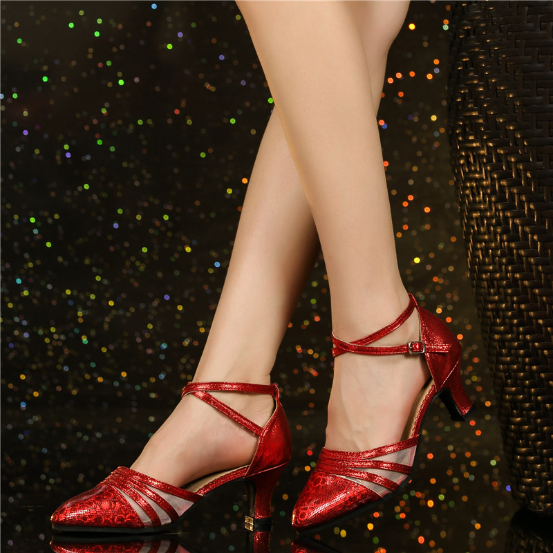 Image 4 - HoYeeLin Modern Standard Dance Heels Women Ladies Closed Toe Tango Waltz Dancing Shoes Indoor Sole-in Dance shoes from Sports & Entertainment
