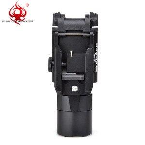 Image 5 - 밤 진화 전술 빛 X400U 매우 Softair 권총 손전등 Airsoftsports 빨간 레이저 사냥 램프 무기 총 빛