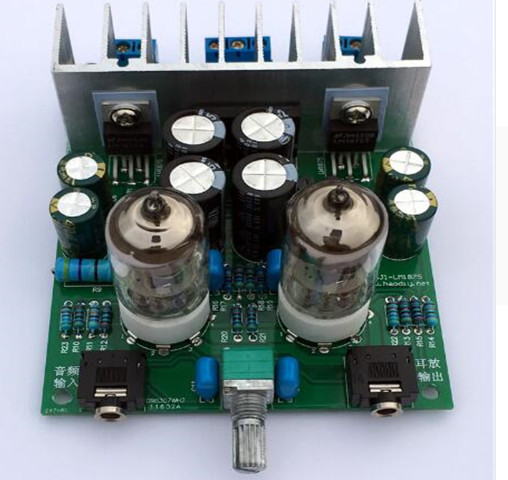 Katherin Diy kits HIFI <font><b>6J1</b></font> tube amplifier Headphones amplifiers <font><b>LM1875T</b></font> power amplifier 30W image