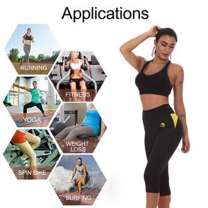 Image 5 - NINGMI obcisłe spodnie majtki modelujące brzuch odchudzanie krótki pot neoprenowy urządzenie do modelowania sylwetki treningu gorset Waist Trainer Butt Lifter mocno Capris