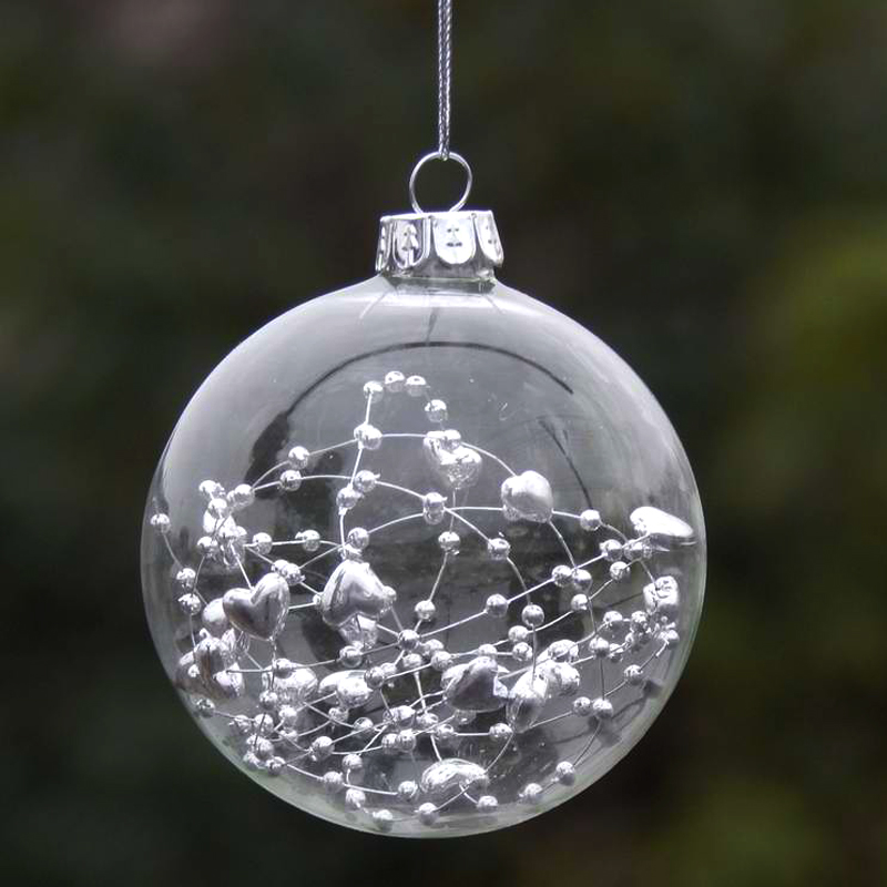 2017 Christmas Glass Ball Clear Baubles Ornaments
