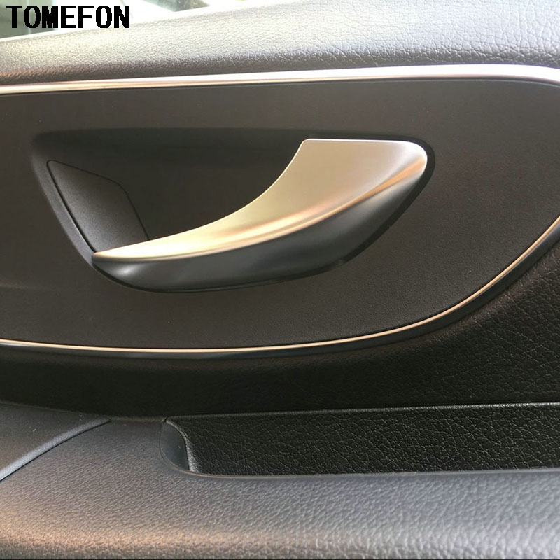 For Mercedes-Benz VITO 2016 Interior Door Pull Handle Panel Trim Strip ABS Accessories Chrome Plate Stickers Covers 2pcs! image