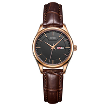 BUREI Brand Lady Sapphire Crystal Women Quartz Watch Genuine Leather Waterproof Female Wristwatches With Premiums Package 13001L