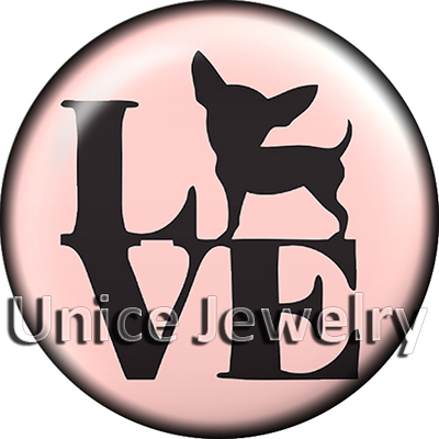 AD1304053 12/18/20mm Snap On Charms for Bracelet Necklace Hot Sale DIY Findings Glass Snap Buttons Dog Symbol Design