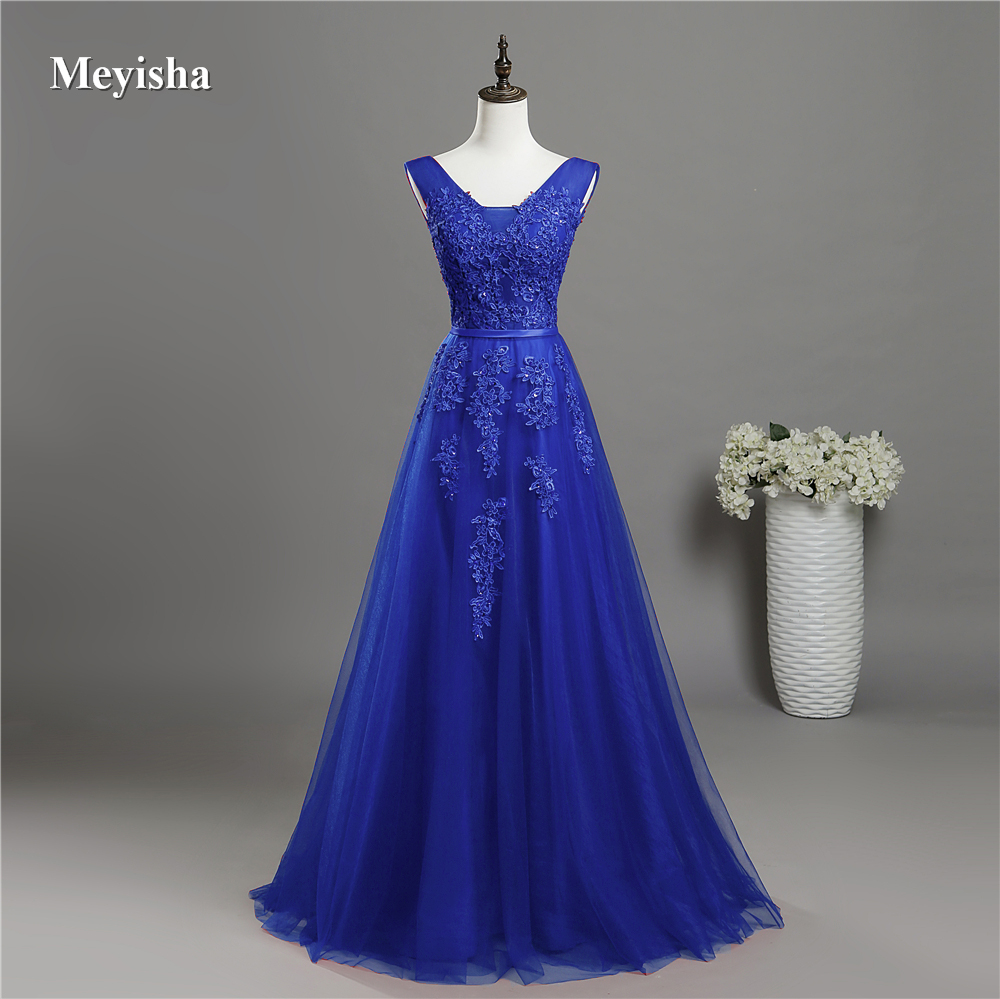 Dress Bridesmaid-Dresses Beaded Lace Navy Burgundy Royal-Blue Party-Gowns Formal V-Neck