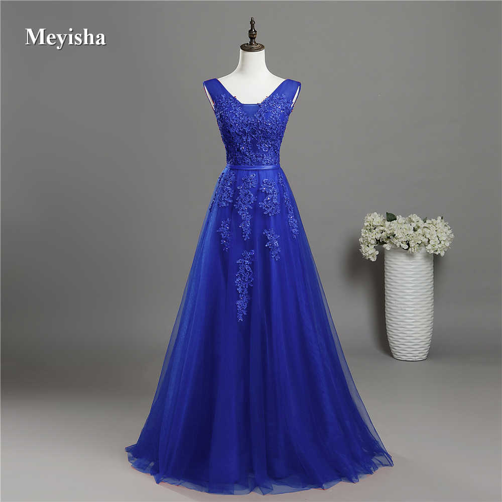 ZJ6008 V Neck Lace Beaded Navy Royal Blue Burgundy Black Red Silver  Bridesmaid Dresses Formal Party ad4b455b58bc