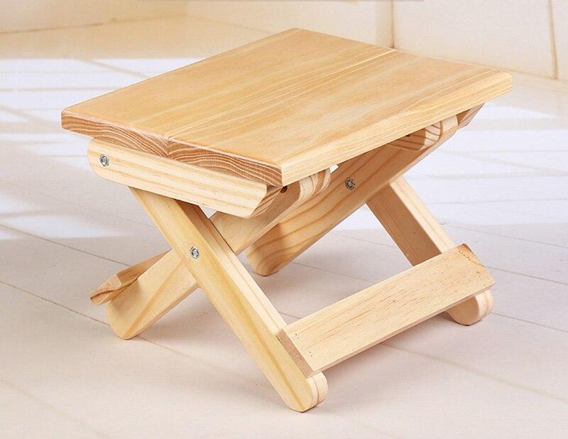 Costway portatile semplice di legno sgabello pieghevole sedia di