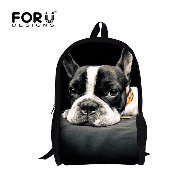 FORUDESIGNS Children Boys Backpack 3D Zoo Animal Bagpack for High School Kids Dog Cat Dinosaur Printing Backpacks for Teenagers