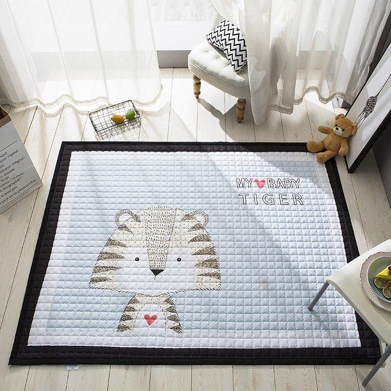Tapis de jeu brillant pour bébé tapis rampant épaississement tapis de jeu pour bébé salon pour enfants Puzzle salon tapis de chambre pour enfants - 5