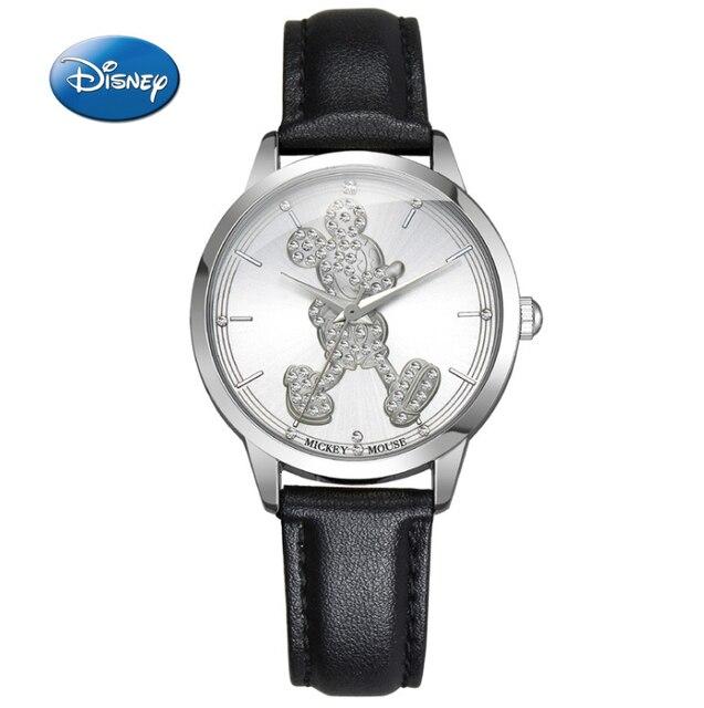 ad7fe6fd685 Top Marca de Luxo Mickey Mulheres Relógio Mulher 100% Genuine Da Disney  Mickey Mouse Moda