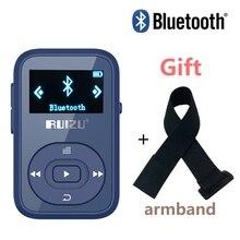 Envío Arm band + RUIZU X26 Clip Bluetooth reproductor de mp3 8 GB Deporte Bluetooth Grabadora de Voz reproductor de música con la Pantalla FM Apoyo SD tarjeta