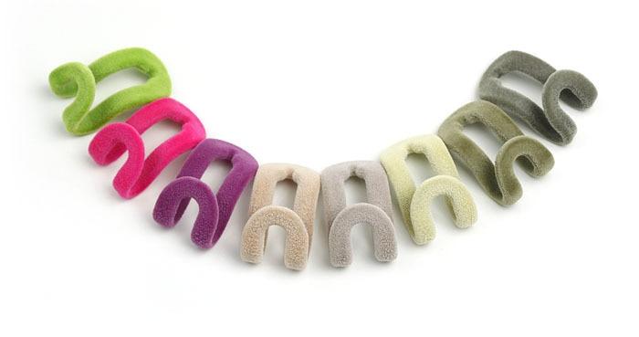 120pcs/pack Mini Flocking Hanger Hooks Velvet Hanger Clips Cloth Wardrobe Hooks