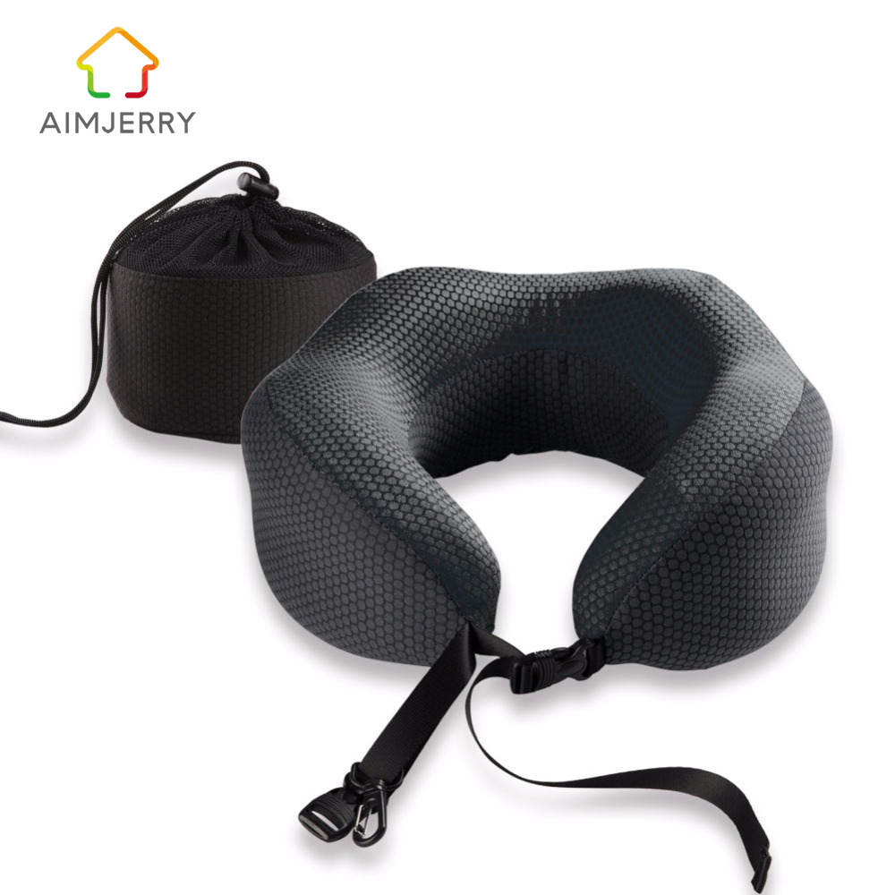 U-Shape Travel Pillow in the Car Memory Foam Neck Pillow Comfortable Cervical Pillows Sleep Folding for Airplane Cushion Neck