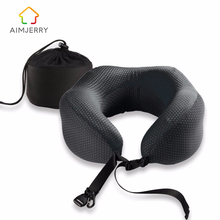 U-Shape Travel Pillow in the Car Memory Foam Neck Pillow Comfortable Cervical Pillows Sleep Folding for Airplane Cushion Neck цена 2017