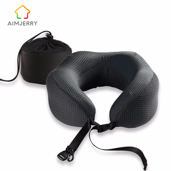 U-Shape Travel Pillow in the Car Memory Foam Neck Pillow Comfortable Cervical Pillows Sleep Folding for Airplane Cushion Neck u shape travel pillow for airplane inflatable neck pillow travel accessories 4colors comfortable pillows for sleep home textile