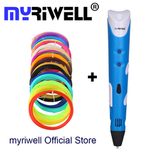 Myriwell Factory Outlet 3D Pen Add 3Color Filaments 3D Printing Pen 3D/ 1 Generation Best Children Present 3D Stereo Drawing Pen