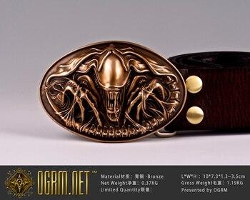Ogrm No. 12 Bronze Belt Shaped Alien Queen Mother Belt Spot Avp Buckle
