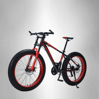 LAUXJACK Mountain bike aluminum frame 24 speed Shimano mechanical brakes 26 x4.0 wheels long fork FatBike